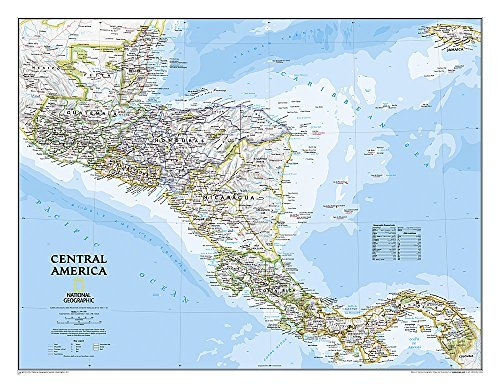 Central America Classic (Tubed) by National Geographic Maps (January 01,2006)