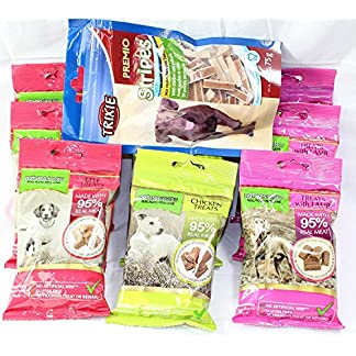 Natures Menu Dog Treat Pack – 9 Bags of Treats – 3 of each flavour + Free Bag of Trixie Chicken and Pollock (no added sugar) 61Z cQapP 2BL