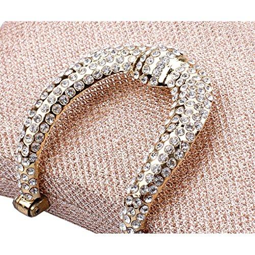 KAXIDY Donna Pochette Borsa Sacchetto Borsetta Da Sera Borsa Diamante (Champagne) Champagne