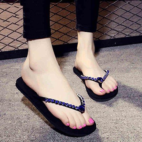 TONGS SANDALES 1cm Femmes pantalons décontractés en diamant faits à la main avec 8 couleurs élégant #1