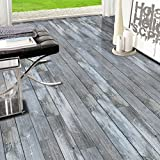 J 3D Holz Aufkleber Selbstklebende Bodenbelag Aufkleber Simulation Holz Boden Aufkleber Küche Schlafzimmer Wohnzimmer Boden pvc Aufkleber 20CM * 5M , 1