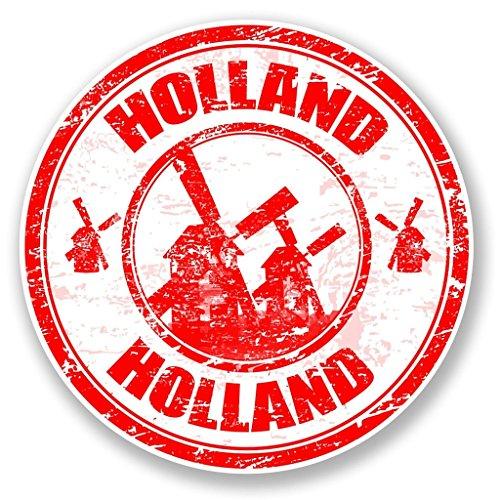 Preisvergleich Produktbild 2x Holland Vinyl Aufkleber Aufkleber Laptop Reise Gepäck Auto Ipad Schild Fun # 6690 - 10cm/100mm Wide