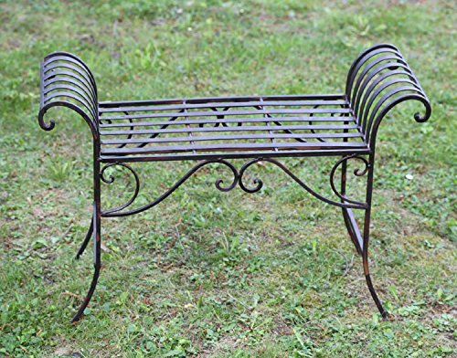 Nostalgie Gartenbank Metall Sitzbank antik Stil Bank Hocker garden bench - 4