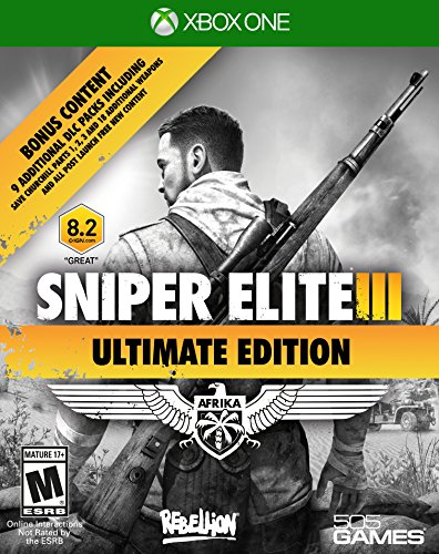 505 Games Sniper Elite III Ultimate Edition, Xbox One – Juego (Xbox One, Xbox One, Soporte físico, Shooter, Rebellion Developments Ltd, 3/13/2015, M (Maduro)) 61Z o8V 2BA1L