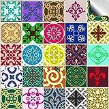 24 stück Fliesenaufkleber für Küche und Bad (Tile Style Decals 24x TP 57 - 6