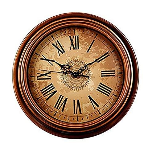 Foxtop 12 Inch Silent Vintage Wall Clock for Living Room