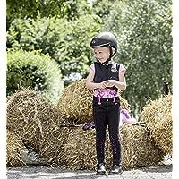 United Sportproducts B445–Germany USG Lilly Infantil de Equitación para Niños, Todo el Año, Lilly, Infantil, Color Negro/Rosa, Tamaño S (98/104)