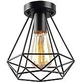 Hanglamp retro hanglamp draadlamp, 1 vlam plafondlamp e27 in retro look, E27 fitting max. 40 watt,plafondlamp vintage,staal,z