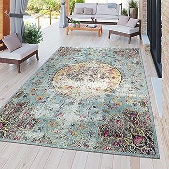 49613aa4c0bb09 TT Home Moderner Outdoor Teppich Wetterfest für Innen & Außenbereich Boho  Style In Multifarben, Größe:200x280 cm