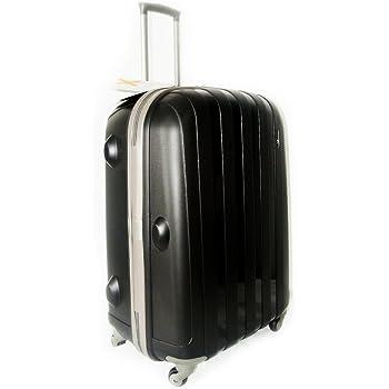 "Luggage X - 66 cm (26"") Hard Sided Black Polypropylene Lightweight Trolley Suitcase"