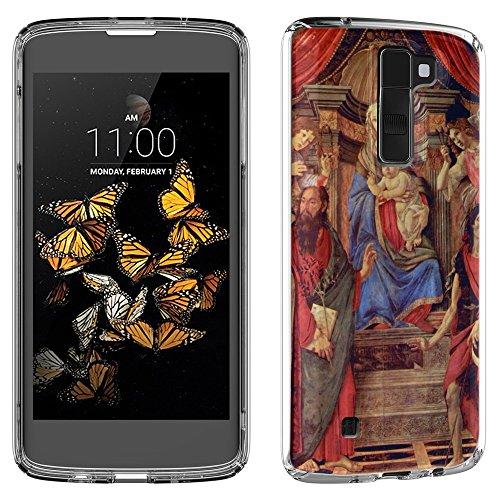 Botticelli - Madonna Throne Of Angels And Saints, Cristallino Custodia Protettiva in Gel Silicone Caso Ultra Sottile Copertura con Disegno Strutturato per LG K8