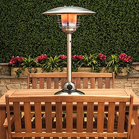 Table Top Gas Patio Heater - Stainless Steel