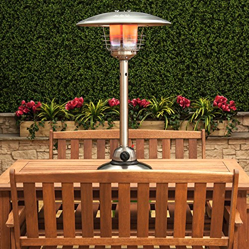 Table-Top Gas Patio Heater - Stainless Steel