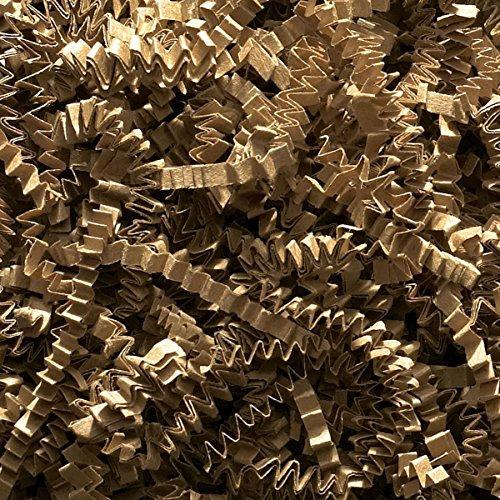 Natürlich zerschnipseltes Kraftpapier–Zigzag/Wellenschnitt–Geschenkkorb-Füllung, 500 g (Kraftpapier-geschenk-korb)