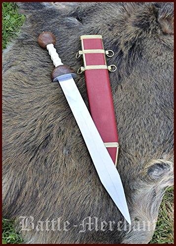 Preisvergleich Produktbild Gladius,  Schwert der römischen Legionäre mit Scheide von Battle-Merchant - Echtes Metallschwert für Erwachsene