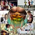 [neue Version 2017] Havenfly Bauch-Muskel-Toner Body Muskelaufbau Fitness Training ABS fit Training ABS fit Weight Muscle Training ABS Gürtel Muskelaufbau Gym Workout Machine, Smart Home Fitness Geräte Unisex-Unterstützung für Männer & Frauen (ABS-bl