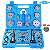 DASBET 22pcs Heavy Duty Disc Brake Caliper Tool and Wind Back Kit for Brake Pad Replacement