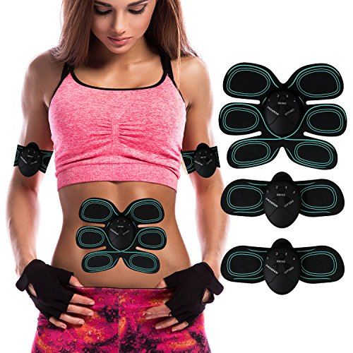 Elektrostimulation - TUXWANG Elektrischer Muskelstimulation EMS-Training Muskelaufbau und Fettverbrennungn Massage-gerät Home Fitness Machine leicht zu tragen für Mann Damen Geschenk