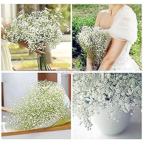 Planta artificial colgante, guirnalda decorativa de hojas de poto, White-4pcs, Artificial Flowers