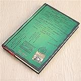Tutoy Classique Vintage Notebook Blank Journal Intime Livre De Voyage Journal Papier Relié - Vert
