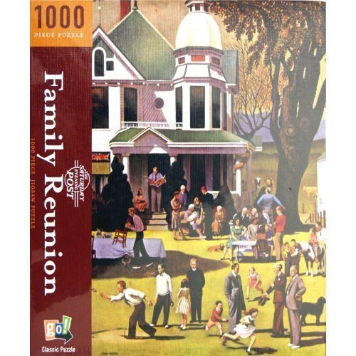 THE SATURDAY EVENING POST FAMILY REUNION 1000 Piece Classic Jigsaw Puzzle by The Saturday Evening Post - Saturday Evening Post