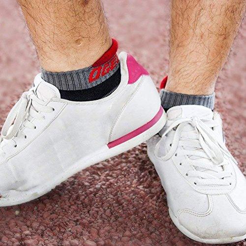 Ogeenier 3P Hombre Calcetines Deporte Calcetines Correr Fondo M/ás Grueso Low Cut Socks Performance Algod/ón Calcetines Tobilleros para Running Ciclismo,3 Color