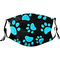 Mllkcao 1PC Adult Unisex Adjustable Washable Reusable 𝙋𝙤lluti𝙤n C𝙤v𝙚r 𝙁𝙖𝙘𝙚 𝙈𝙖𝙨𝙠𝙨 Animal Dog Paw Print Sport and Outdoor