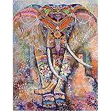 Tenture Imprimé Motif 3D Eléphant, Tapisserie Murale Indian Mandala Bohemian Rétro Style/ Tapis de Plage/ Nappe de table / Courverture de pique-nique – Dimension 130x150cm ( Multicolore )