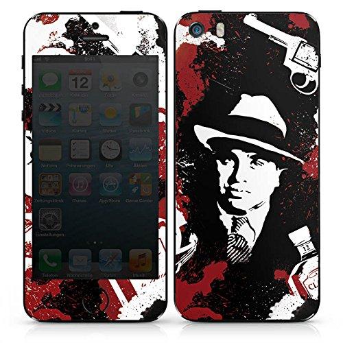 Apple iPhone 3Gs Case Skin Sticker aus Vinyl-Folie Aufkleber Al Capone Pate Mafia Gangster DesignSkins® glänzend