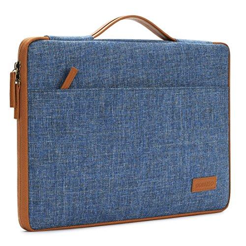 """DOMISO 10.1"""" Notebook Housse Sacoche Pochette pour Ordinateur Portable Tablet Laptop Sleeve pour 12"""" MacBook / 10.8"""" Microsoft Surface 3, Bleu"""