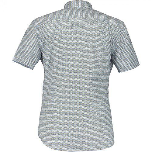 State of Art Herren hochwertige kurzarm Baumwoll Hemden 16469/2557 Blau/ bunt