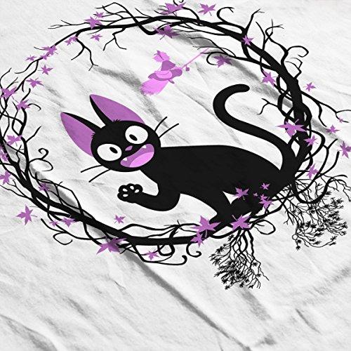 Kikis Delivery Service Kiki Cat Circle Men's Baseball Long Sleeved T-Shirt White/Black