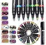 Joyeee 16 Colori Arte del Chiodo Unghie Set di Penne - Perfetta Manicure Kit per Unghie Cosmetici fai da te Decorazioni
