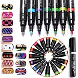 Joyeee Uñas de Arte Conjunto de Plumas de Colores 16 - Kit de Manicura Ideal para Cosmética DIY Uñas Decoraciones