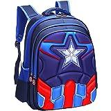 Niños Mochila Niña Niños Bolsa de Viaje Mochila Impermeable Capitán América Spiderman Impreso Mochila Escolar Mochila Escolar