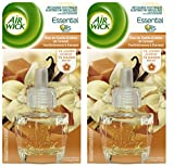 Air Wick Desodorisant Recharge Electrique Fleur de Vanille et Délice de Caramel - lot de 2