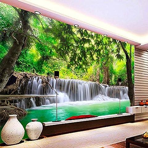 LWCX Benutzerdefinierte Größe 3 D Natur Landschaft Wasserfall Wandbild Tapeten Fernseher Sofa Hintergrund Wand Papierrolle 180x130CM
