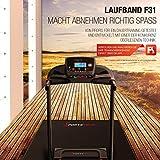 Sportstech F31 Profi Laufband mit innovativer Selbst-Schmier-Funktion & App Steuerung für Smartphone MP3 AUX Bluetooth 4PS 16km/h - klappbar und kompakt verstaubar (F31 - Aufgebaut) - 5