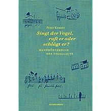 Singt der Vogel, ruft er oder schlägt er?: Handwörterbuch der Vogellaute (Naturkunden)