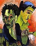 Self-Portrait, Double Portrait - By Ernst Ludwig Kirchner - Leinwanddrucke 20x25 Inch Ungerahmt