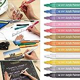 gaddrt Acryl Paint Marker Keramik Malerei Kunst Permanent Marker Pens Medium Point Spitze Stifte–12Farbe/Pack
