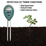 UMSKY Misuratore di PH per terreno, 3 in 1, test per acidità del terreno per uso in casa, giardino, prato, fattoria, coltura all'aperto o in interni, attrezzo per giardino o erbe aromatiche