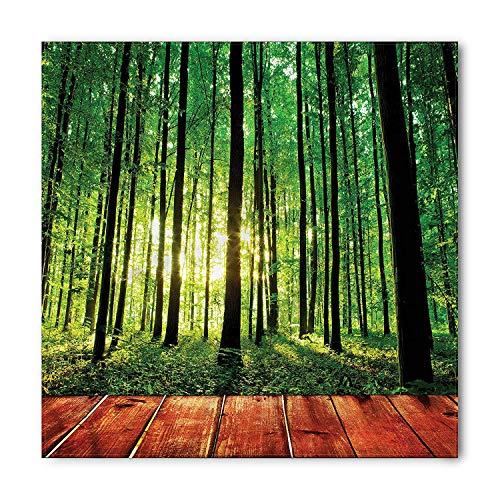 Red Cedar Tree Trunk (Jieaiuoo Driftwood Bandana, White Cedar Tree Trunk, Unisex Head and Neck Tie 100x100cm)