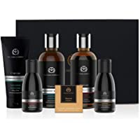 The Man Company Charcoal Kit Set Of 6 - Body Wash, Shampoo, Face Scrub, Face Wash, Cleansing Gel, Soap   Best Gift for…