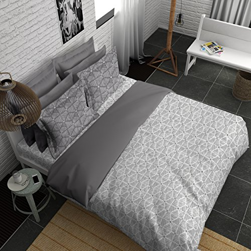 Boutique Living India 300Tc Grey King Size Cotton Printed with 2 Pillow Cover Bedsheet - Buy Online Bedsheet Set-(274cm x 274cm) Grey Values - Buy Online Bedsheet