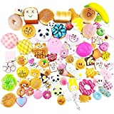 Random 20 pcs squishies pack Jumbo Medium Mini Soft Squishy Cake/Panda/Bread/Buns Phone Straps Good Smell by Karids
