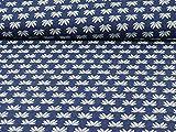 Swafing by Lila Lotta Jacquardjersey Winter-Flower, Blau