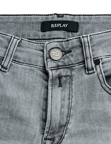 Replay Damen Jeanshose Luz Back Zip Grau (Grey Denim 10)