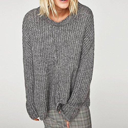 Good dress Frauen Lose Pullover Frauen Langarm V-Ausschnitt Pullover Reine Farbe Alle Spiel Primer Hemd , schwarz , Einheitsgröße