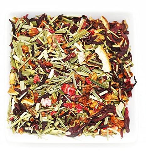 Tealyra - Strawberry Orange Sunrise - Hibiscus Strawberry Fruit Tea - Loose Leaf Tea - Caffeine Free - 4oz/112g